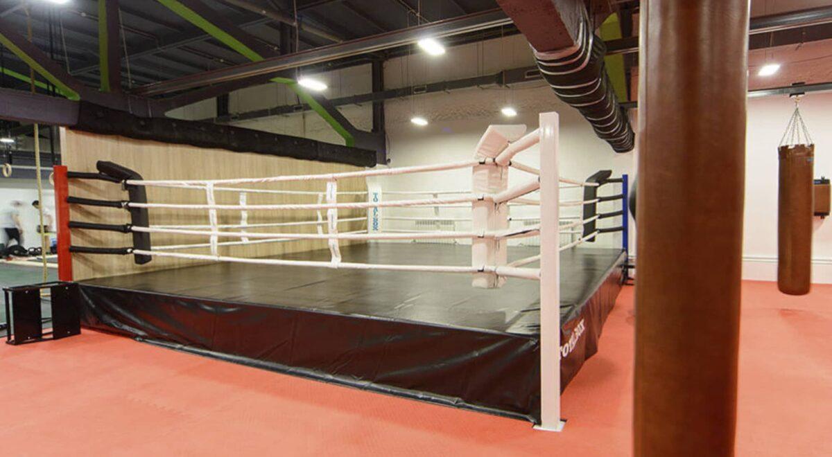 Боксерский ринг на помосте 0,5 м «TOTALBOX» размер по канатам 4×4 м