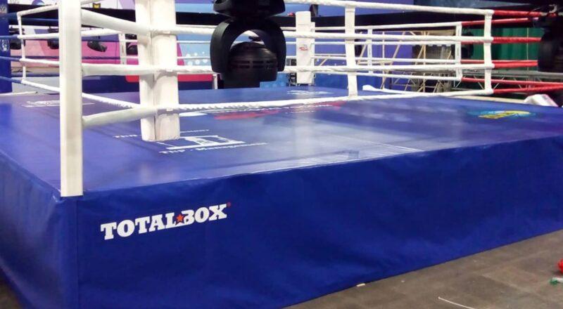 Боксерский ринг на помосте 1 м «TOTALBOX» размер по канатам 5×5 м