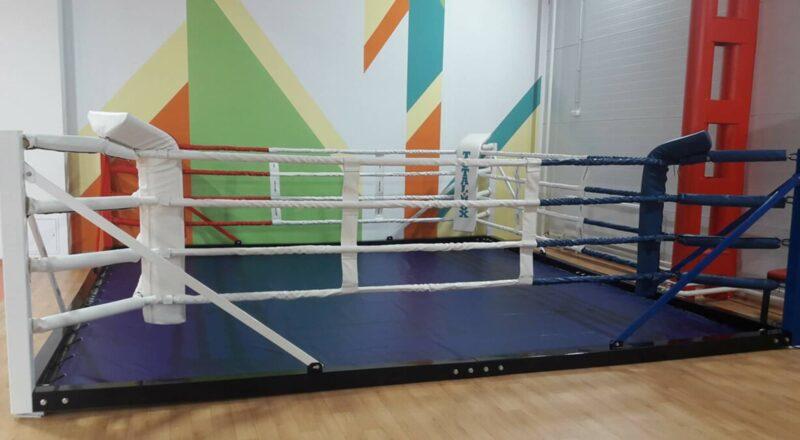Ринг боксерский напольный «TOTALBOX» на балке размер по канатам 4×4 м