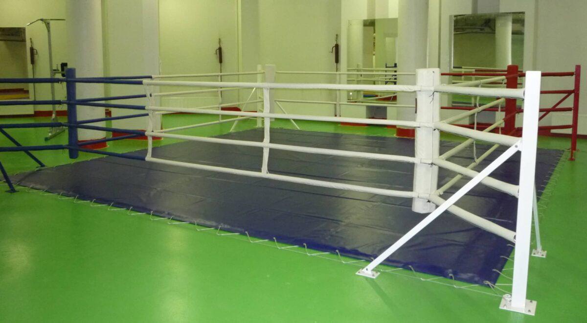 Ринг боксерский напольный «TOTALBOX» на упорах размер по канатам 4×4 м
