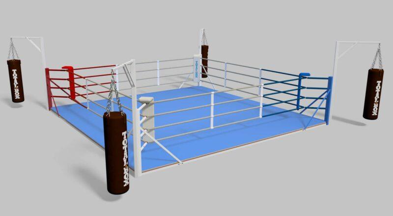 Ринг боксерский «TOTALBOX» тренировочный с консолями для подвеса мешков