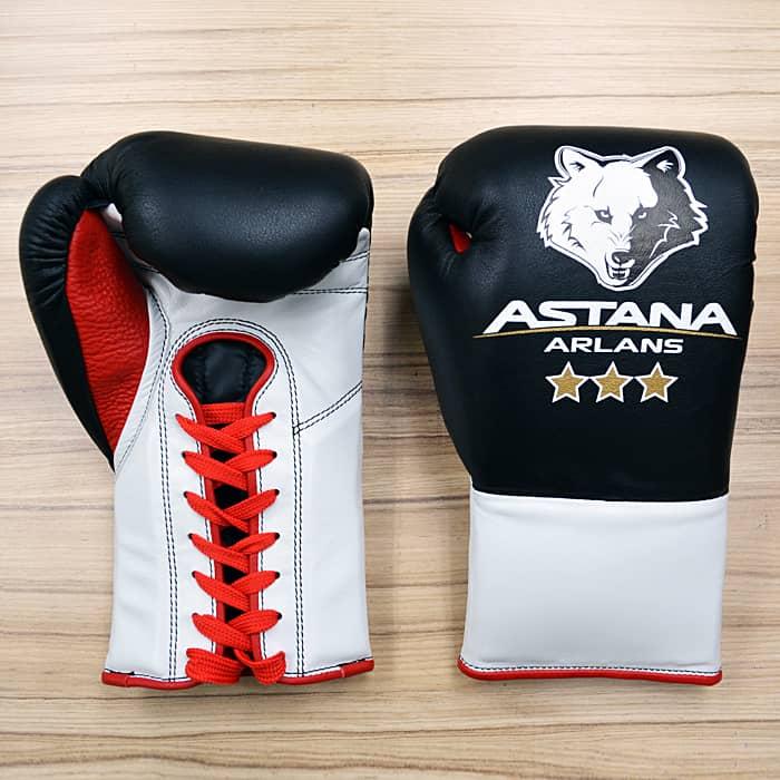 Боксерские перчатки для клуба Astana Arlans